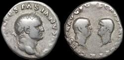 Ancient Coins - Vespasian AR denarius – Titus and Domitian