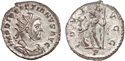 Ancient Coins - Diocletian billon antoninianus – Jupiter – EF; silvered