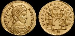 Ancient Coins - Constans AV solidus – Two Victories – EF