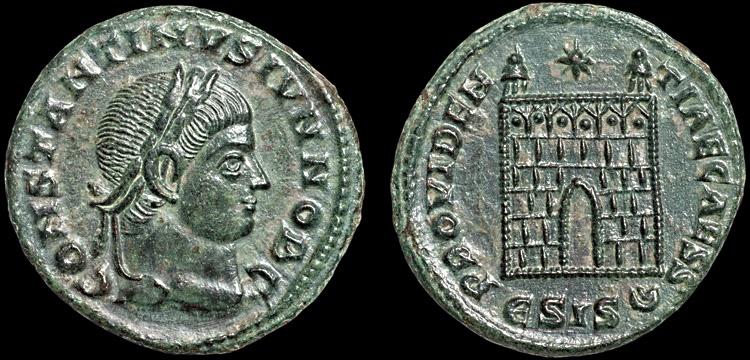 Ancient Coins - Constantine II AE3 – Campgate – EF
