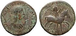 Ancient Coins - Bosporus Kingdom: Rhescuporis II AE denarius – King on horseback