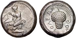Ancient Coins - Cilicia. Soloi: AR stater – Amazon/Grape bunch – EF; far better struck and from much fresher dies than most examples; lustrous reverse