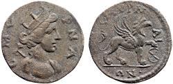 Ancient Coins - Ionia. Smyrna AE20 pseudo-autonomous coinage – The Amazon Smyrna/Griffin