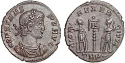 Ancient Coins - Constans AE follis – Two soldiers – EF