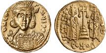 Ancient Coins - Constantine IV AV solidus – Heraclius and Tiberius – EF