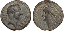 Ancient Coins - Octavian and Zenodoros AE23 Chalcis ad Libanum; Coele-Syria; Syria – Octavian/Zenodoros