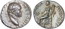 Ancient Coins - Vespasian AR denarius. Antioch, Syria – Condordia – EF