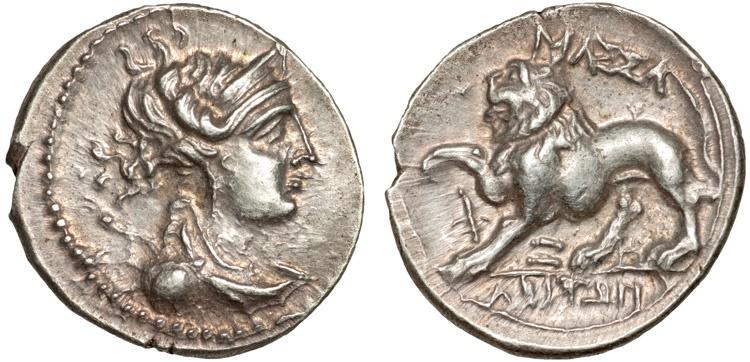 Ancient Coins - Gaul. Massalia: AR drachm – Artemis/Lion