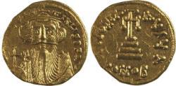 Ancient Coins - Constans II. 641-668. AV Solidus (20mm, 4.41 g). Constantinople mint, 1st officina.