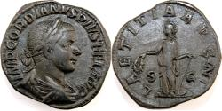 Ancient Coins - Gordian III. AD 238-244. Æ Sestertius (32mm, 19.51 gm). Rome mint.
