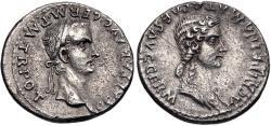 Ancient Coins - Gaius (Caligula), with Agrippina Senior. AD 37-41. AR Denarius (18.5mm, 3.63 g, 11h).
