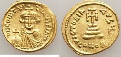 Ancient Coins - Constans II Pogonatus (AD 641-668). AV solidus (20mm, 4.39 gm, 7h).