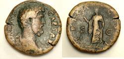 Ancient Coins - Aelius. Caesar, AD 136-138. Æ Sestertius (32mm, 25.22 g). Rome mint.