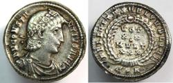 Ancient Coins - Ancient Roman Silver Siliqua Constantius II, 337-361. Siliqua (Silver, 20 mm, 2.65 grams),