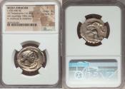 Ancient Coins - SICILY. Syracuse. Second Democracy. Ca. 466-405 BC. AR tetradrachm (27mm, 16.47 gm, 9h). NGC