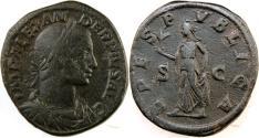 Ancient Coins - SEVERUS ALEXANDER. 222-235 AD. Æ Sestertius (31mm, 22.92 gm). Struck 232 AD.
