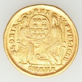 Ancient Coins - Constantius II, as Augustus (AD 337-361). AV solidus (21mm, 4.34 gm, 5h).