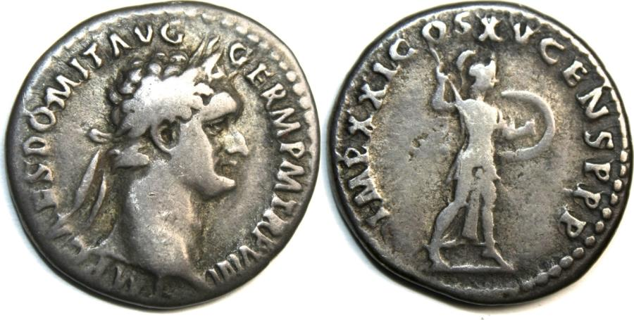Ancient Coins - DOMITIAN. 81-96 AD. AR Denarius (3.20 gm). Struck 88 AD. IMP CAES DOMIT AVG GERM