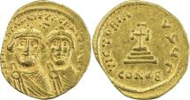 Ancient Coins - BYZANTINE EMPIRE: Heraclius, 610-641, AV solidus (20mm, 4.29g), Constantinople