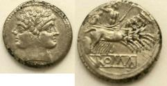 Ancient Coins - Anonymous Rome, c.225-212 BC. AR Didrachm (6.40g, 20mm) crawford 28/3. Sydenham 64d