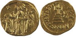 Ancient Coins - Heraclius, with Heraclius Constantine and Heraclonas. 610-641. AV Solidus