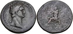 Ancient Coins - Domitian. AD 81-96. Æ Sestertius (36.5mm, 25.50 g, 6h). Rome mint. Struck AD 88-89.