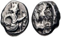 Ancient Coins - PERSIA, Achaemenid Empire. temp. Artaxerxes II to Artaxerxes III. Circa 375-340 BC. AR Siglos