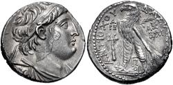 Ancient Coins - SELEUKID EMPIRE. Antiochos VII Euergetes (Sidetes). 138-129 BC. AR Tetradrachm