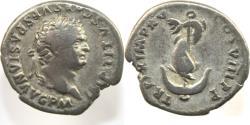 Ancient Coins - TITUS. 79-81 AD. AR Denarius (2.92 gm). IMP TITVS CAES VESPASIAN AVG P M,