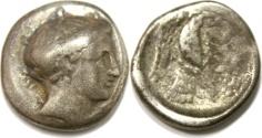 Ancient Coins -  Chalkis, Euboia. AR Drachm (16 mm, 3.45 g), c. 338-308 BC.