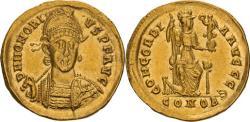 Ancient Coins - Honorius. 393-423 AD. Solidus, 4.41gg. (6h). Constantinople, c. 402-3 AD