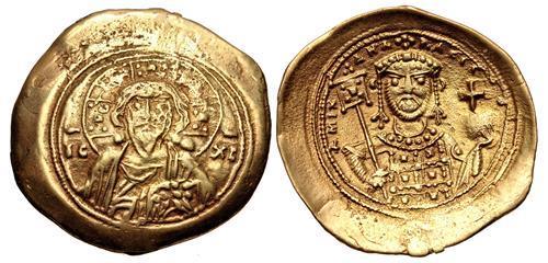 Ancient Coins - Michael VII Ducas. 1071-1078. EL Histamenon Nomisma (25mm, 3.01 g, 6h). Class II.
