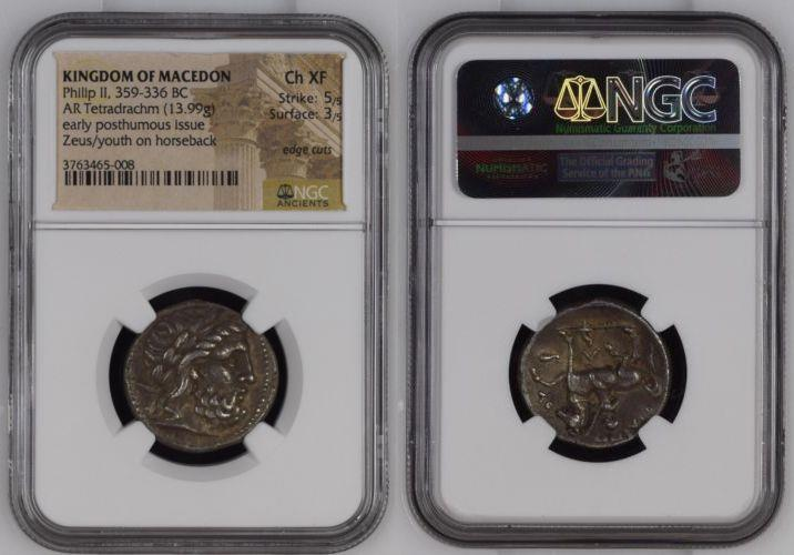 Ancient Coins - KINGS of MACEDON. 317-305 BC, or king, 359-336 BC. AR Tetradrachm (25mm, 13.99 g).