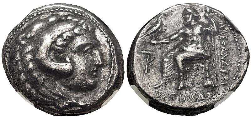 Ancient Coins - CYPRUS, Kition. Pumiathon. Circa 362/1-312 BC. AR Tetradrachm (25mm, 12h). In the name and types of Alexander III