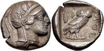 ATTICA, Athens. Circa 454-404 BC. AR Tetradrachm (23mm, 16.30 g, 5h).