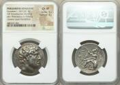 Ancient Coins - PERGAMENE KINGDOM. Eumenes I (263-241 BC). AR tetradrachm (30mm, 16.63 gm, 1h). NGC