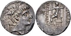 Ancient Coins - SELEUKID EMPIRE. Alexander II Zabinas. 128-122 BC. AR Tetradrachm