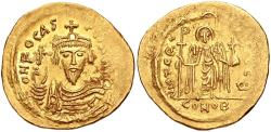 Ancient Coins - Phocas. 602-610. AV Solidus (22mm, 4.48 g, 7h). Constantinople mint, 2nd officina.
