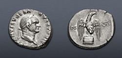 Ancient Coins - Vespasian. AD 69-79. AR Denarius (17mm, 3.46 g, 6h). Rome mint. Struck AD 76.