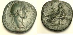 Ancient Coins - Antoninus Pius. AD 138-161. Æ Sestertius (31mm, 25.21g). Rome mint.
