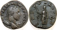 Ancient Coins - SEVERUS ALEXANDER. 222-235 AD. Æ Sestertius (30mm, 23.64 gm). Struck 232 AD.