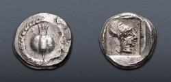 Ancient Coins - PAMPHYLIA, Side. Circa 430-400 BC. AR Stater (22mm, 10.99 g, 5h). Pomegranate;