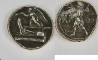 Ancient Coins - Greek KINGS of MACEDON. Demetrios I Poliorketes. 306-283 BC. Silver Drachm