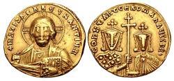 Ancient Coins - Constantine VII Porphyrogenitus, with Romanus II. 913-959. AV Solidus (19.5mm, 4.34 g, 6h).