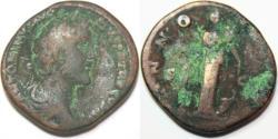 Ancient Coins - Antoninus Pius. AD 138-161. Æ Sestertius (33mm, 24.72 g,m). Rome mint.