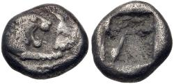 Ancient Coins - KINGS of LYDIA. Kroisos. Circa 564/53-550/39 BC. AR Twelfth Stater (8mm, 0.81 g). Sardes mint.
