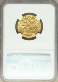 Ancient Coins - Romanus III Argyrus (AD 1028-1034). AV histamenon nomisma (24mm, 4.38 gm, 6h).