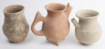 Lot of 3 Ancient Near Eastern Pottery Vessels c.1000 BC.