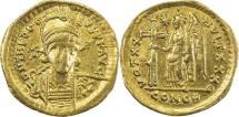 Ancient Coins - ROMAN EMPIRE: Theodosius II, 402-450 AD, AV solidus (25mm, 4.02g), Constantinople,