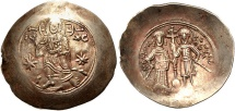 Manuel I Comnenus. 1143-1180. EL Aspron Trachy (32mm, 4.05 g, 6h).